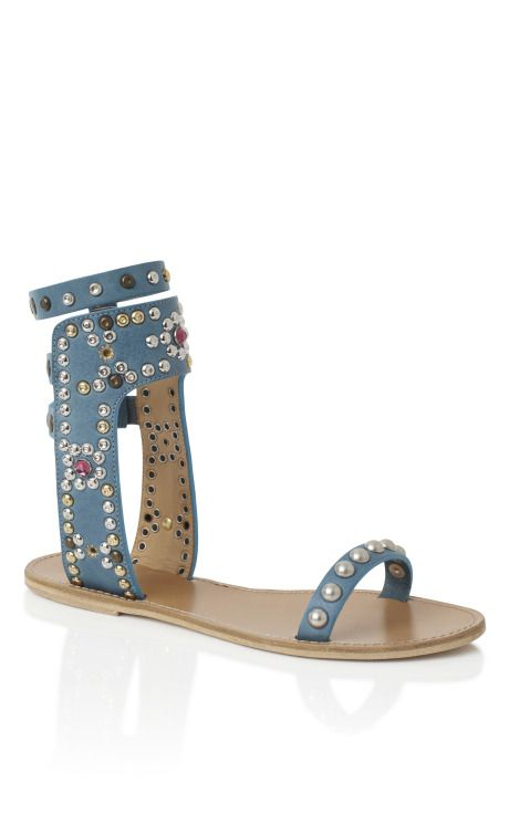 Isabel Marant Azur Cole Strassed and Studded Sandals