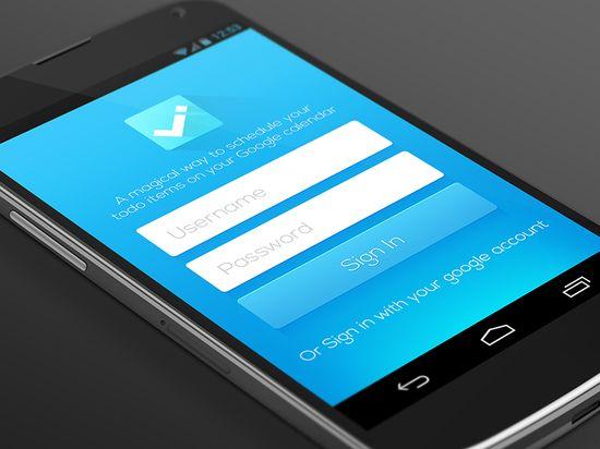 ToDo App Interface design