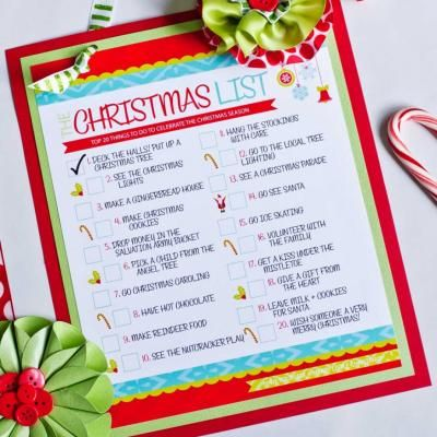 Christmas To Do List Printable