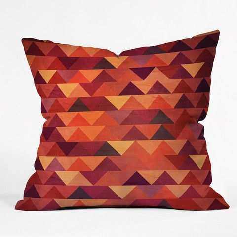 Iveta Abolina Trianglerain Throw Pillow #festive #orange #halloween #fall #home #decor