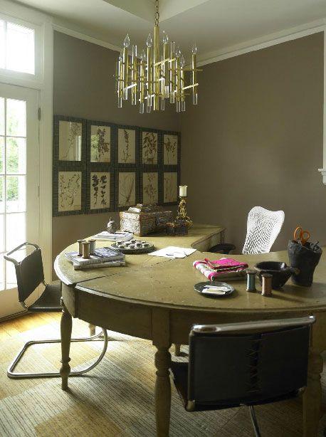 70 Gorgeous Home Office Design Inspirations - nice u shape desk