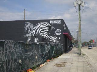 Love this zebra graffiti