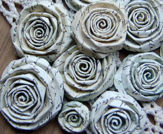 Paper Love Letter handmade flowers