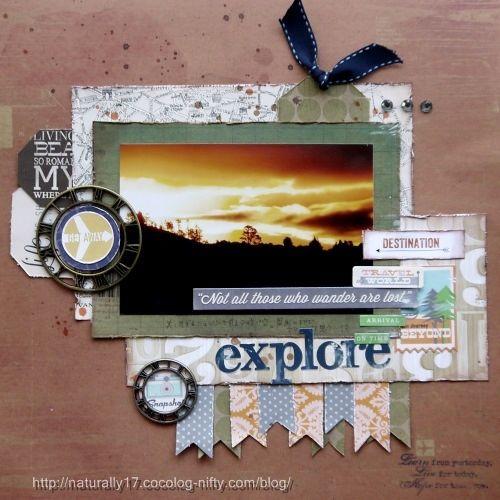 #papercraft #Scrapbook #layout #Travel    Explore - Scrapbook.com