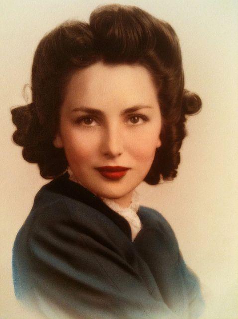 Gorgeous '40s hair inspiration. #vintage #hair #1940s #portrait