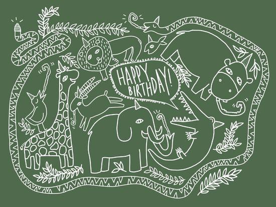 Wild Animals Happy Birthday -- Sydney Jones