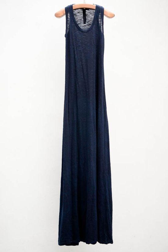 Long trapeze dress - love the lightness for summer