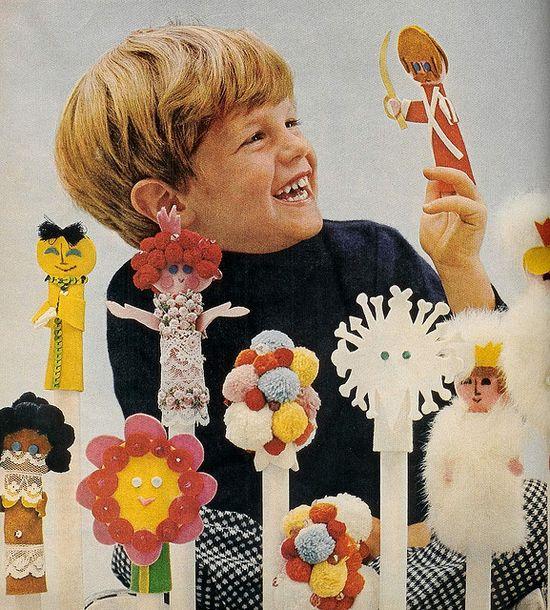 Finger puppets. BHG kids, 1969.