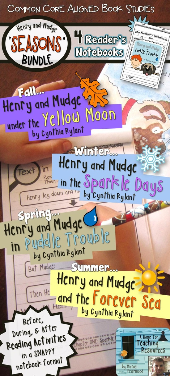 Kids love having their own little notebooks. Teachers love having kids think deeply about text. And who doesn't love Henry and Mudge?