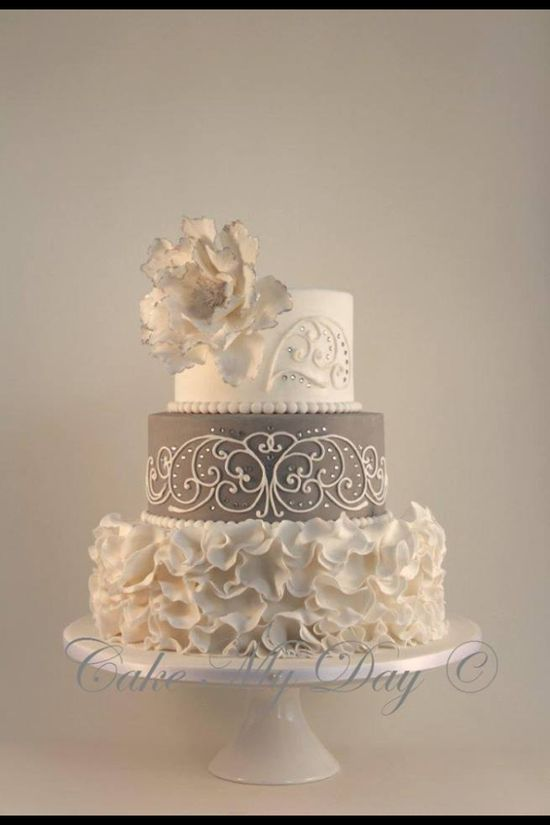 Cake white and gray. Love this!!!!