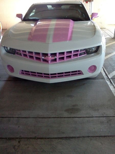 Pink Chevy Camaro ? Girly Cars for Female Drivers! Love Pink Cars ? It's the dream car for every girl ALL THINGS PINK #chevy #camaro #pink