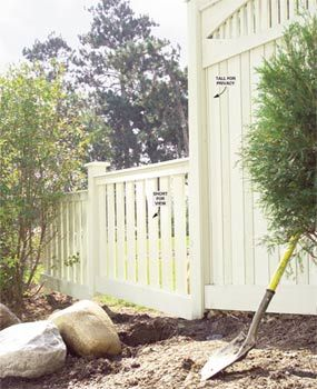 Build a Privacy Fence - Tips for planning, designing and constructing a wood privacy fence.