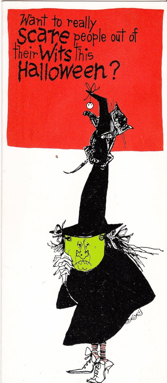 Vintage 1960s Halloween Card  Unused by Pommedejour on Etsy, $5.00
