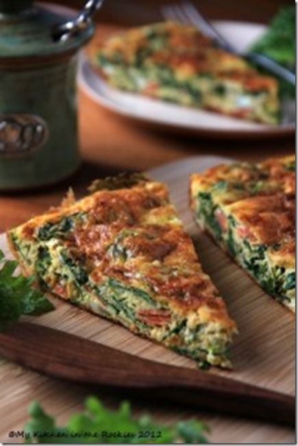 Kale Frittata – A Healthy Breakfast Casserole. Since I have B-12 deficiency, I need to eat more greens. This looks awesome and it's good for you.