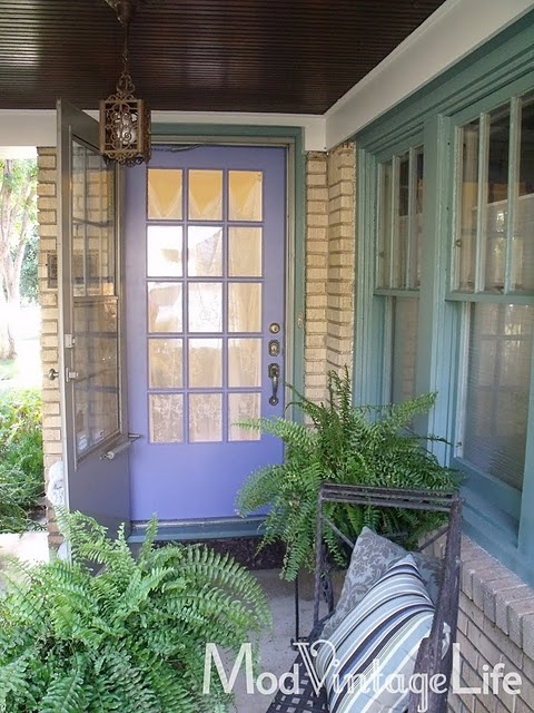 front door color!!!   LOVE