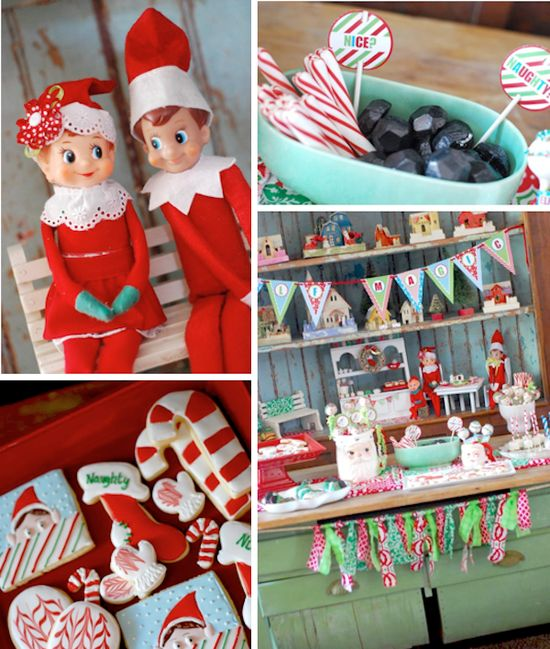 Elf on the Shelf holiday Christmas party planning via Kara's Party Ideas www.KarasPartyIde...