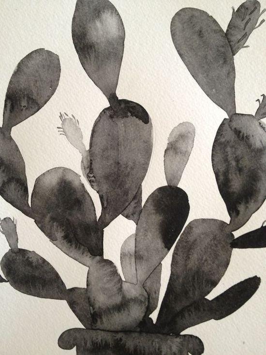 cactus watercolor.