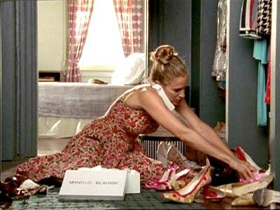 carrie and her shoes ?