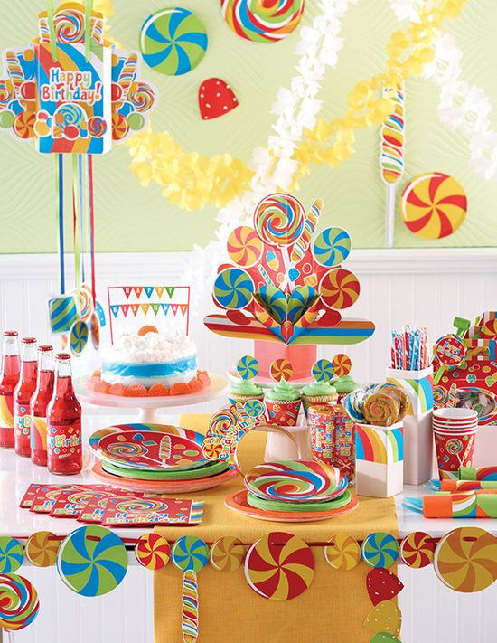 candy birthday party decorations