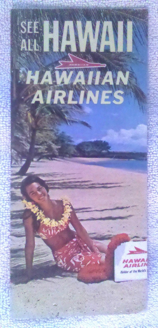 Vintage 1960s Hawaiian Airlines Travel Brochure by HiloBooks