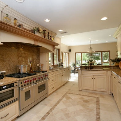 Traditional Kitchen Photos Tile Floor Design, Pictures, Remodel, Decor and Ideas - page 2