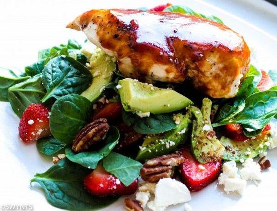Strawberry BBQ Chicken Salad