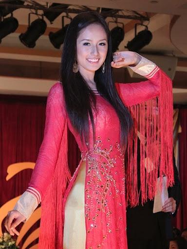 I like the ao dai, but Miss Vietnams really don't look asian anymore!