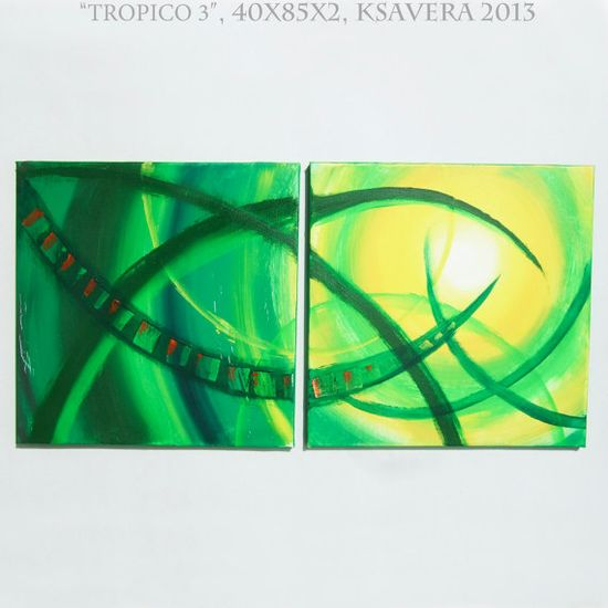 SALE Tropical decor Green Abstract Paintings on by KsaveraART, €47.00 FREE SHIPPING #painting #ABSTRACT