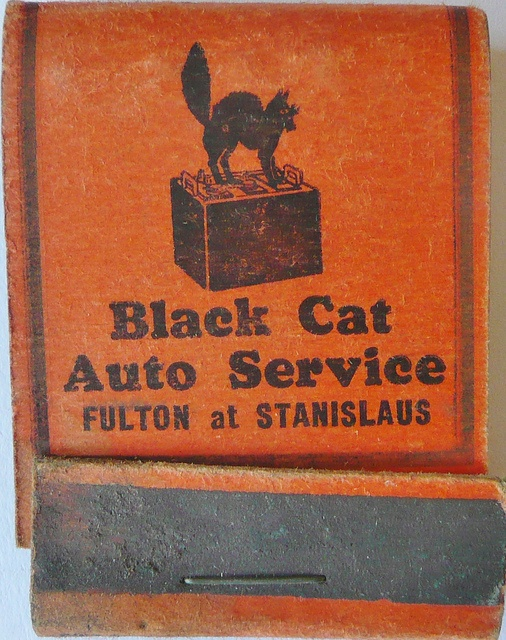 Cats in Art and Illustration: BLACK CAT AUTO SERVICE