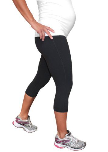 BESTSELLER! Impact Fitness - Fleece Lined Momentum Maternity Capri, Under Belly Style, for Yoga / Workout / Exercise $69.50