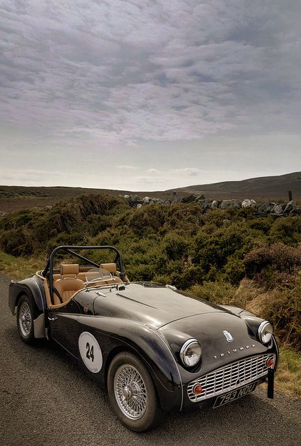 old fashion car 1958 Triumph TR3A
