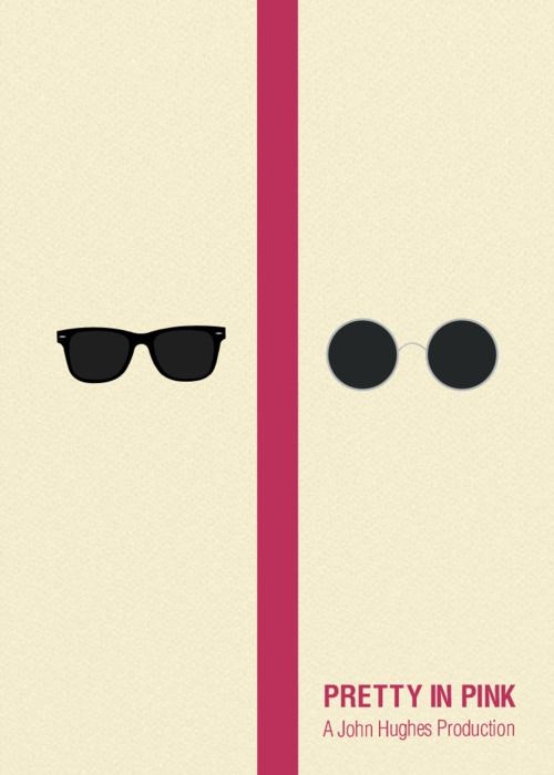 Minimal movie posters - Pretty In Pink