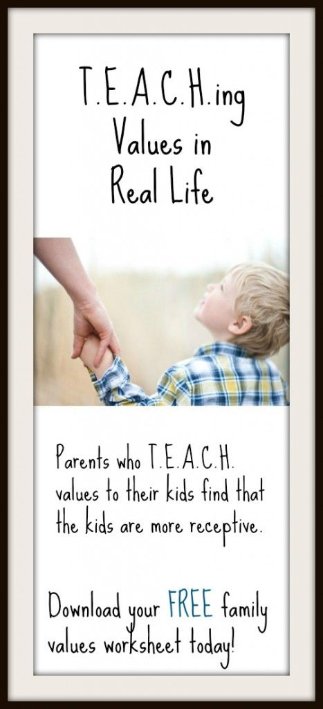 Use T.E.A.C.H. in your home to help kids grow in character and faith! ~Connected