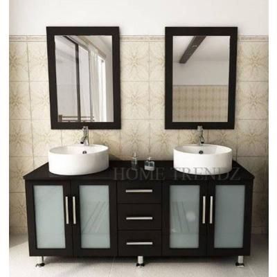 60 inch modern furniture bathroom vanity cabinet furniture double sink