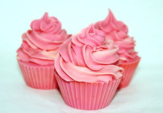 Red Hot Cold Process Soap Cupcake by BeGreatfulShop on Etsy, $5.00