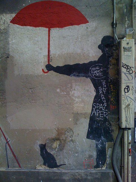 Left Bank graffiti, Paris