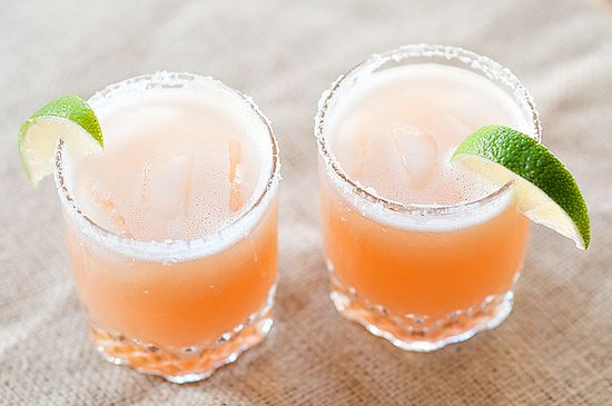 Pink Grapefruit Margaritas - the perfect not-too-sweet sipper for a hot summer evening