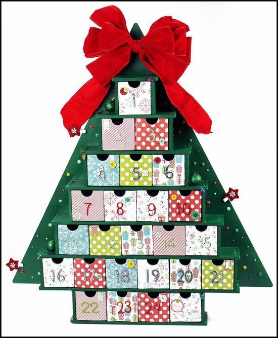 Christmas Tree Advent - Scrapbook.com