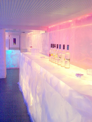 The bar at the Kube hotel in Paris.    #boutique #hotel #interior #design #decor #color #bar #ice
