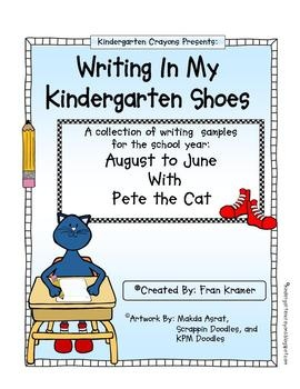 This is a collection of writing samples you can use with your class with a Pete the Cat theme for each month. They can be displayed on a writing bo...