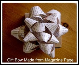 How to Make a Bow from a Magazine Page