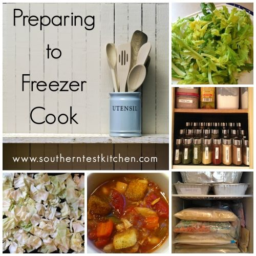 Preparing to Freezer Cook (Part 1): Get Organized. Tips and tricks to get organized for freezer cooking with limited prep space, a lack of storage and not a lot of time. #freezercooking #pantry