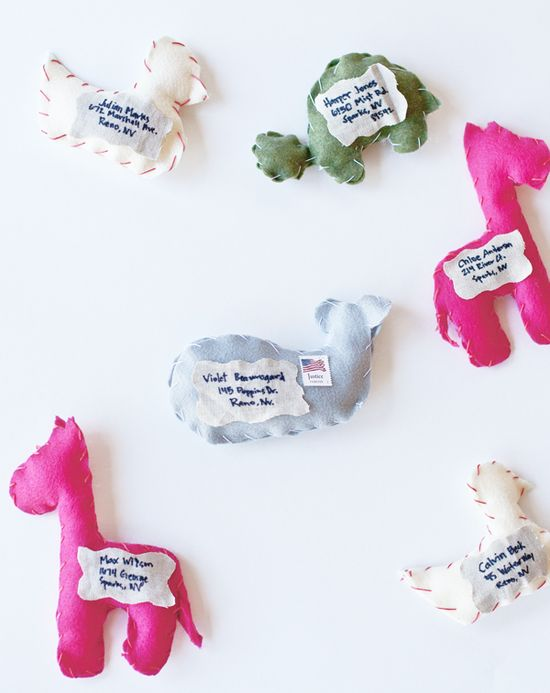 Stuffed Animal Birthday Invitations - that can be sent in the mail!