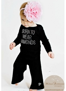 Born To Wear Diamonds Baby Outfit