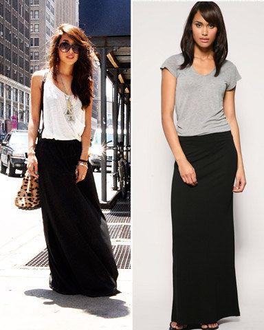 Black Maxi Skirt. $30.00, via Etsy.