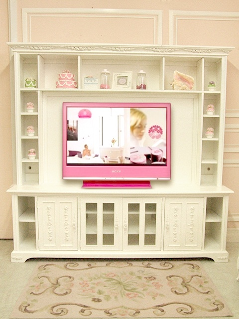 Shabby Chic TV console, media storage wall unit