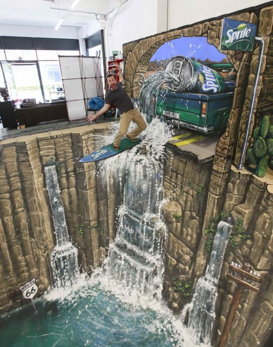10 Amazing 3D street art made ??by human hand