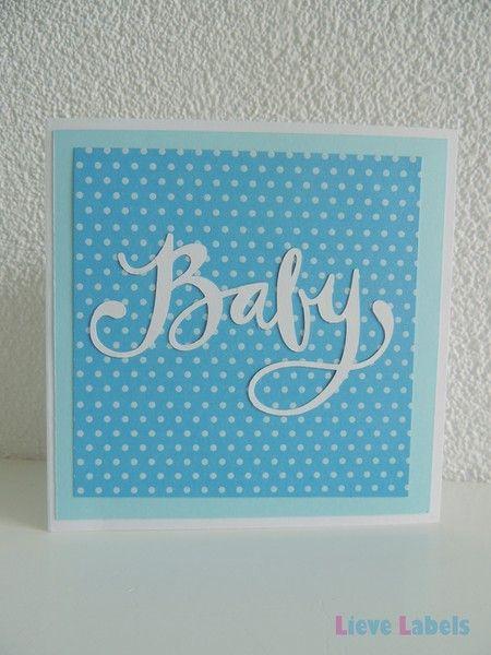 Handgemaakte kaart - Baby boy