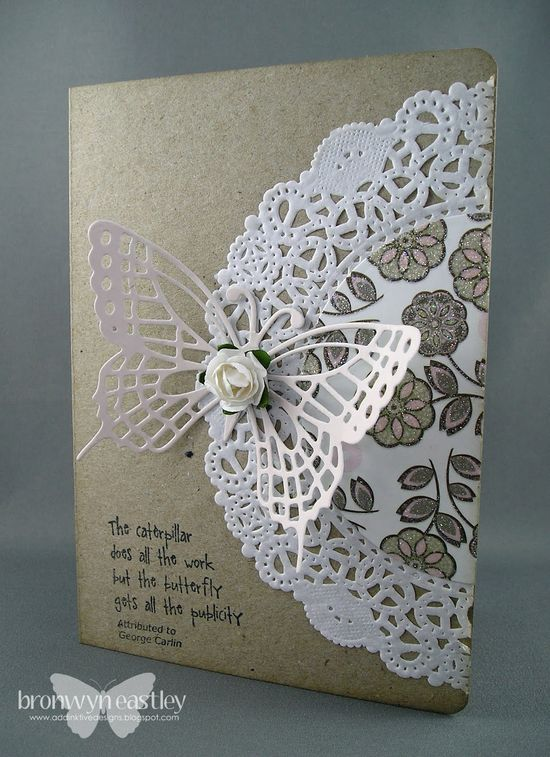 Any doily on a card makes it special.