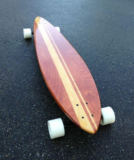 Black Bear handmade longboards (woodworking) by Andy Van Cleave, via